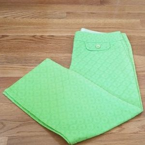 Trina Turk Bright Green Size 6 Pants